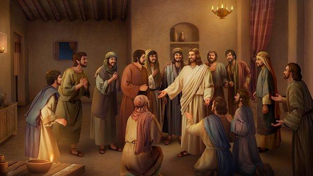 Słowa, jakie Jezus skierował do swoich uczniów po swym zmartwychwstaniu.