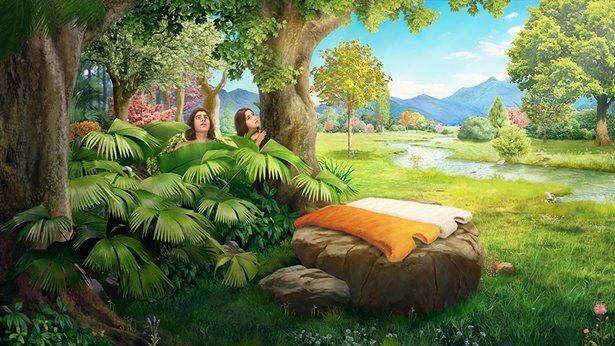 Bóg sporządza odzienie ze skór dla Adama i Ewy