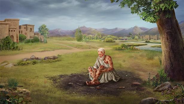 Hiob pokonuje szatana i staje się prawdziwym człowiekiem w oczach Boga